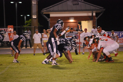 WALTON'S DEFENSE held Mosley scoreless in the first half while allowing the Dolphins only 13 passing yards in the entire contest. Walton opens the 2015 regular season on Friday night at Everette Yates Memorial Stadium as the Braves face off with the Blountstown Tigers at 7 p.m. (Photo by Jennifer Casey)