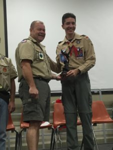 Shover.jpg LARAMIE SHOVER has attained the rank of Eagle Scout. He is the fourth scout to achieve the highest rank from Troop 525 and makes the success of achieving the rank at 100 percent for the troop.