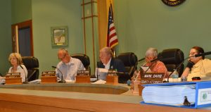 WALTON COUNTY COMMISSIONERS at the July 12 meeting. (Photo by Dotty Nist)
