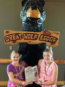 WHERE IN THE HERALD are Jillian and Emily Casey? The girls spent the past week with their parents, Patrick and Jennifer Casey, at the Great Wolf Lodge near Charlotte, North Carolina.
