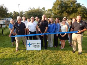 DINNER WAS SERVED along with some information and door prizes at the ribbon cutting. Community, chamber, and co-op members got to see a glimpse of what a sunny future might look like with the Walton Area Chamber of Commerce ribbon cutting at the new Choctawhatchee Electric Cooperative, Inc.(CHELCO) solar demo the afternoon of Sept. 8.
