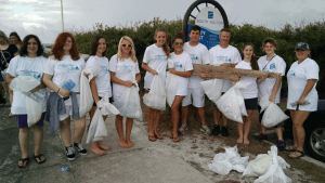 Members of the Freeport High School Key Club participated in the Ocean Conservancy International Coastal Cleanup on Saturday, September 17th.